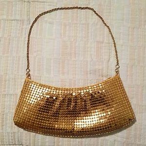 Gold Metal Mesh Clutch